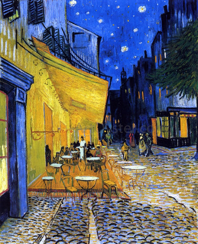 Vincent Van Gogh A Cafe Terrace on the Place du Forum (also known as Cafe Terrace at Night) - Hand Painted Oil Painting