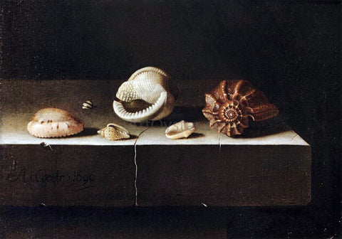 Adriaen Coorte Five Shells on a Slab of Stone - Hand Painted Oil Painting