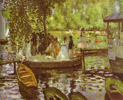 Claude Oscar Monet La Grenouillere - Hand Painted Oil Painting