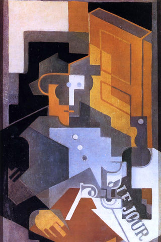 Juan Gris Man from Touraine - Hand Painted Oil Painting