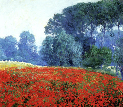 Guy Orlando Rose Poppy Field - Hand Painted Oil Painting