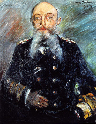 Lovis Corinth Portrait of Admiral Alfred von Tirpitz - Hand Painted Oil Painting