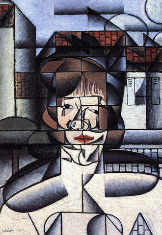 Juan Gris Portrait of Germaine Raynal - Hand Painted Oil Painting