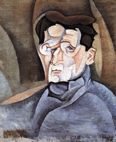 Juan Gris Portrait of Maurice Raynal - Hand Painted Oil Painting