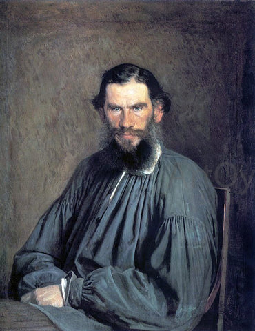 Ivan Nikolaevich Kramskoy Portrait of the Writer Leo Tolstoy - Hand Painted Oil Painting