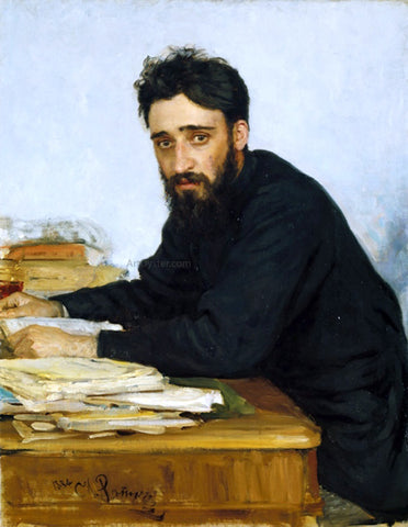 Ilia Efimovich Repin Portrait of writer Vsevolod Mikhailovich Garshin - Hand Painted Oil Painting