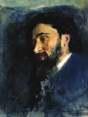 Ilia Efimovich Repin Portrait of writer Vsevolod Mikhailovich Garshin, Study - Hand Painted Oil Painting