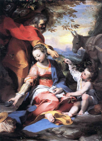 Federico Fiori Barocci Rest on the Flight to Egypt - Hand Painted Oil Painting