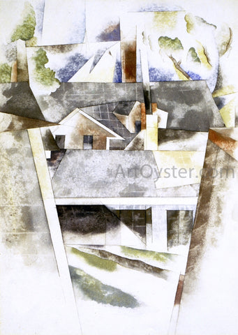 Charles Demuth Sailboats and Roofs - Hand Painted Oil Painting