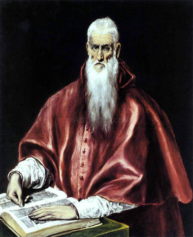 El Greco St Jerome as a Scholar - Hand Painted Oil Painting