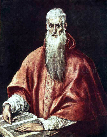 El Greco St Jerome as Cardinal - Hand Painted Oil Painting