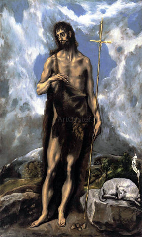 El Greco St John the Baptist - Hand Painted Oil Painting