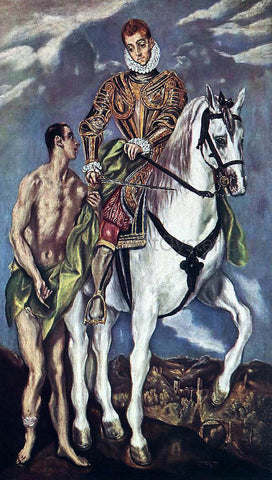 El Greco St Martin and the Beggar - Hand Painted Oil Painting