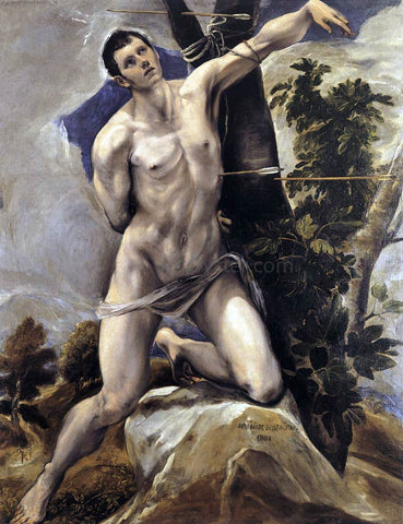 El Greco St Sebastian - Hand Painted Oil Painting