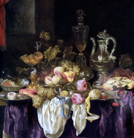Abraham Van Beyeren Still Life of Bowls - Hand Painted Oil Painting
