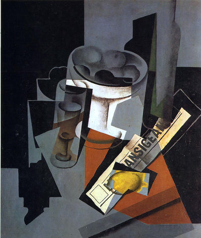 Juan Gris Still Life with Newspaper - Hand Painted Oil Painting