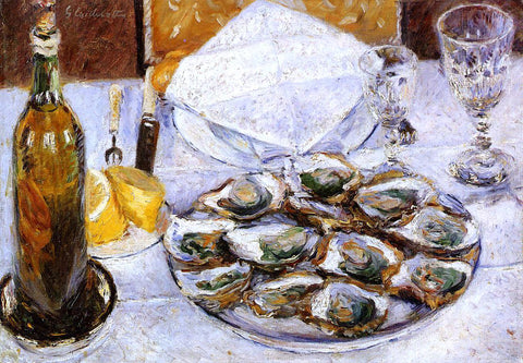 Gustave Caillebotte Still Life with Oysters - Hand Painted Oil Painting