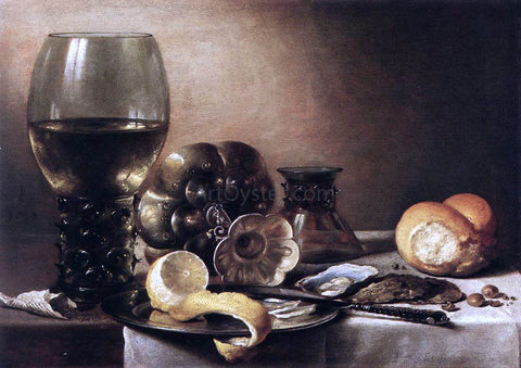 Pieter Claesz Still-Life with Oysters - Hand Painted Oil Painting