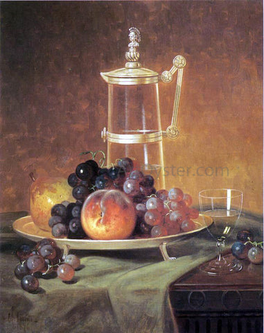 Edward C Leavitt Tabletop Still Life - Hand Painted Oil Painting