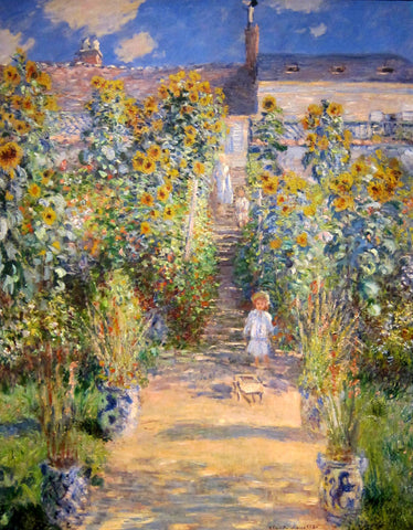 Claude Oscar Monet The Artist's Garden at Vetheuil - Hand Painted Oil Painting