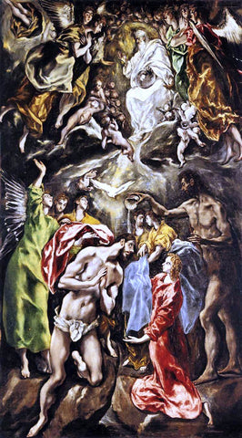 El Greco The Baptism of Christ - Hand Painted Oil Painting
