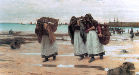 Walter Langley The Breadwinners - Hand Painted Oil Painting