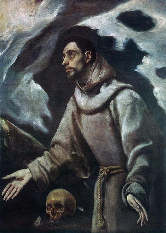 El Greco The Ecstasy of St Francis - Hand Painted Oil Painting