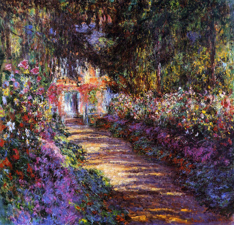 Claude Oscar Monet A Flowered Garden - Hand Painted Oil Painting