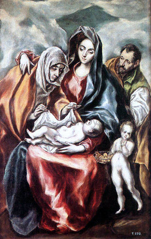 El Greco The Holy Family - Hand Painted Oil Painting