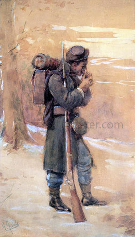 William Gilbert Gaul The Infantryman - Hand Painted Oil Painting