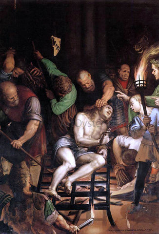 Antonio Campi The Martyrdom of St Lawrence - Hand Painted Oil Painting