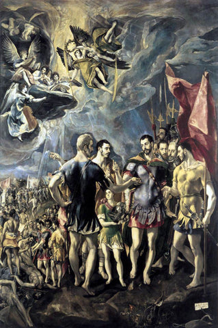 El Greco The Martyrdom of St Maurice - Hand Painted Oil Painting