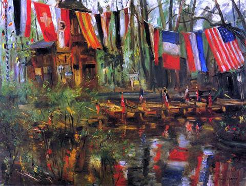 Lovis Corinth The New Pond in the Tiergarten, Berlin - Hand Painted Oil Painting