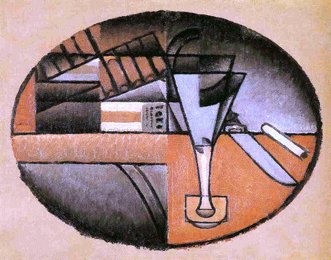 Juan Gris The Packet of Cigars - Hand Painted Oil Painting