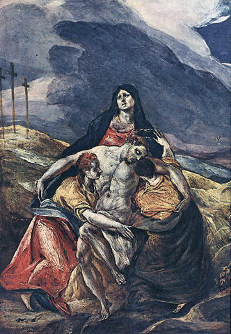 El Greco The Pieta (The Lamentation of Christ) - Hand Painted Oil Painting