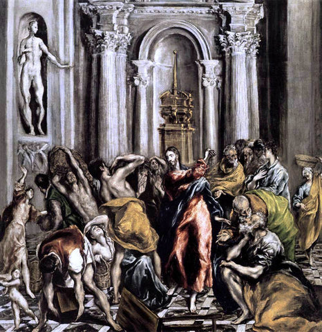 El Greco The Purification of the Temple - Hand Painted Oil Painting