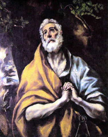 El Greco The Repentant Peter - Hand Painted Oil Painting