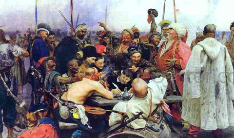 Ilia Efimovich Repin The Reply of the Zaporozhian Cossacks to Sultan Mahmoud IV - Hand Painted Oil Painting