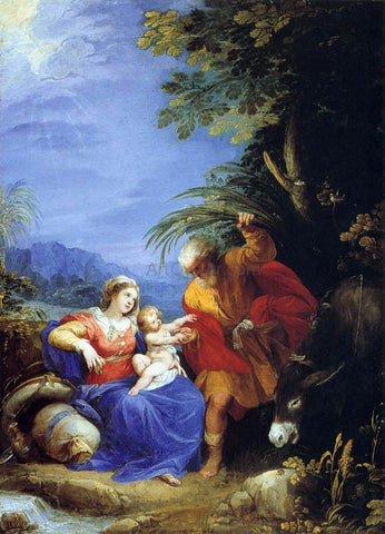 Giuseppe Cesari The Rest on the Flight into Egypt - Hand Painted Oil Painting