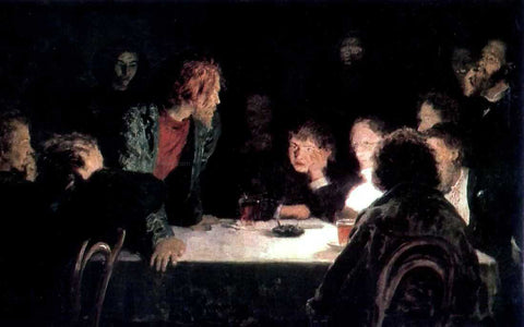 Ilia Efimovich Repin The Revolutionary Meeting - Hand Painted Oil Painting