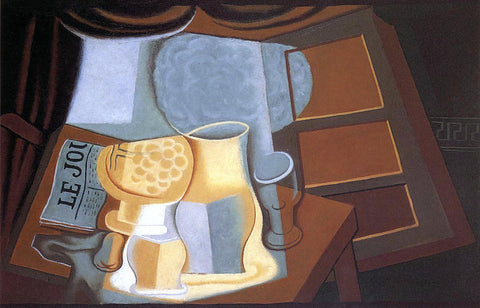 Juan Gris The Table in Front of the Window - Hand Painted Oil Painting