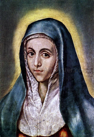 El Greco The Virgin Mary - Hand Painted Oil Painting