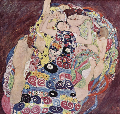 Gustav Klimt The Virgins (less brightly colored) - Hand Painted Oil Painting