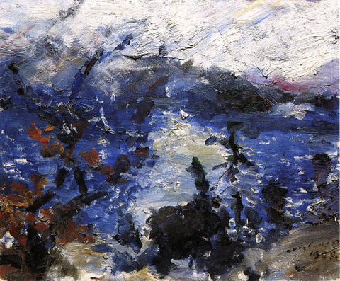 Lovis Corinth The Walchensee, Mountains Wreathed in Cloud - Hand Painted Oil Painting