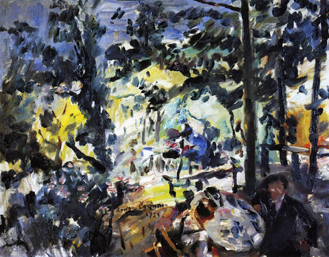 Lovis Corinth The Walchensee, On the Terrace - Hand Painted Oil Painting