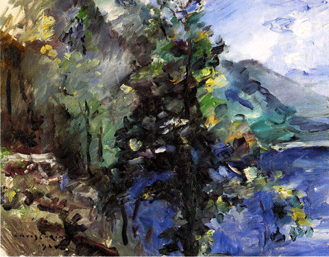 Lovis Corinth The Walchensee with the Slope of the Jochberg - Hand Painted Oil Painting