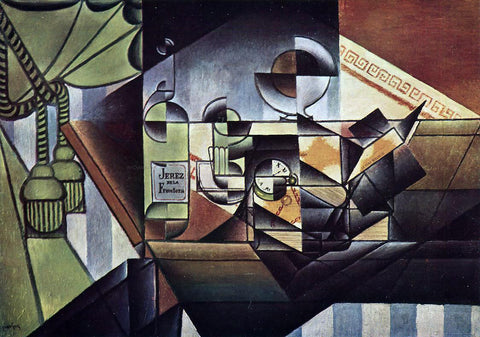 Juan Gris The Watch (also known as The Sherry Bottle) - Hand Painted Oil Painting