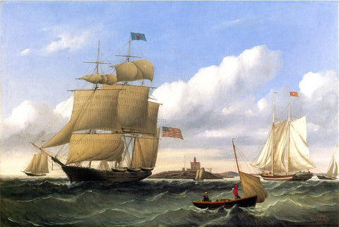"William Bradford The Whaleship ""Emma C. Jones"" off Round Hills, New Bedford - Hand Painted Oil Painting"