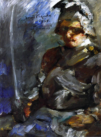 Lovis Corinth Thomas in Armour - Hand Painted Oil Painting