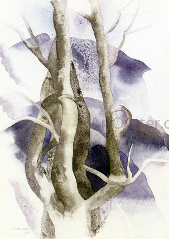 Charles Demuth Tree Forms - Hand Painted Oil Painting